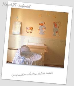 Siluetas de madera ositos colocadas en habitacion - Siluetas madera infantiles ...