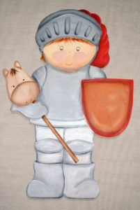 Silueta de madera ni o caballero decoraci n infantil - Siluetas madera infantiles ...